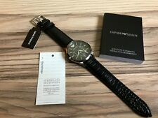 EMPORIO ARMANI AR2447 Mens Black Chronograph Genuine Watch