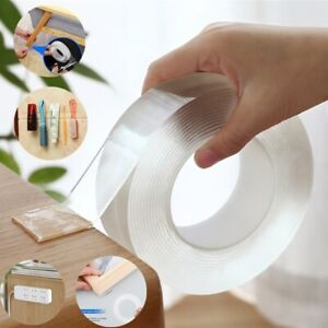 Transparent Nano Tape Removable Washable Reusable Double side Adhesive Tape-Gel