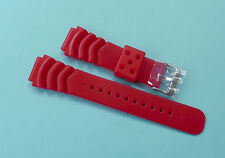 Zuludiver Silicone Rubber Watch Strap 20mm Strawberry Red