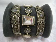 "HEIDI DAUS""Conscious Coupling""(S/M) 3-Pc(Clear/Multi)Bracelet Set (Orig.$299.95)"