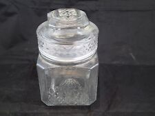 "KOEZE'S Drugstore Glass Apothecary/Candy Jar/Canister 7"" tall 4 1/2"" wide"