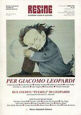 RESINE N. 84 2000 - PER GIACOMO LEOPARDI