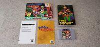 Banjo-Kazooie Nintendo 64 N64 Video Game Complete CIB Manual Box Lot AUTHENTIC !