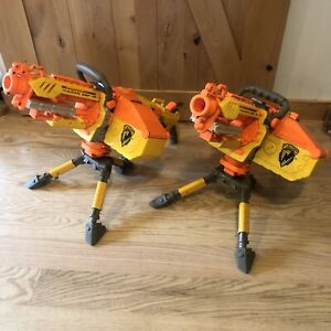 Two Nerf Vulcan EBF-25 Dart Blaster Gun 1 Complete Tested/working & 1 Parts Only
