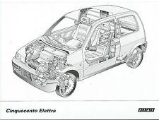 Fiat Cinquecento Elettra cortar a través de la vista fantasma vista en transparencia Dibujo X 3