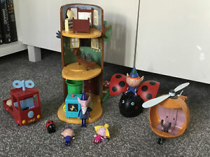 BEN & HOLLY'S LITTLE KINGDOM ELF TREE PLAYSET & HELICOPTER TRUCK & FIGURES L@@K
