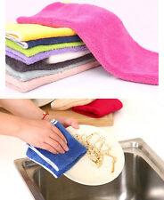 10pcs Dishcloth Dishrag Dish Towel Cleaning Wiping Washing Rag Bathroom Kitchen