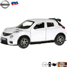 Diecast Car Scale 1:36 Nissan Juke-R 2.0 White Subcompact SUV Russian Model Toy