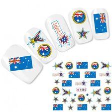 Tattoo Nagel Sticker Australien Flagge Fußball Flag Nail Art Water Decal