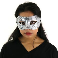Unisex Roman Warrior Distressed Masquerade Ball Prom Halloween Mask - Silver