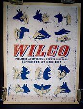 2007 WILCO Sky Blue Sky Tour DENVER CO. Silkscreen concert Poster Print RARE!
