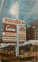 1940s Reno Nevada Pioneer Inn Casino postcard 10059