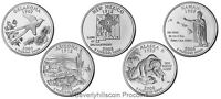2008 State Quarters 10 coin set Denver  Philadelphia Uncirculated