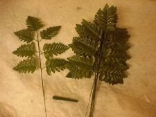 """""""High Quality Silk"""" Leather Leaf Flowers - Filler - Green Greenery 12 Pics"""