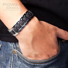 New Titanium Mens Power Ionics Bracelet Energy Band Balance Retail Box Free Ship