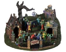 Lemax Spooky Town Graveyard Party with Adaptor # 94488