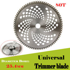 NEW! Carbide Tip Blade 10'' 25.4mm 80T Teeth  For Brush Cutter Trimmer