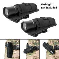 2PCS Rotatable Belt Clip Flashlight Holster Pouch for Surefire 6P 9P G2 G3 C2