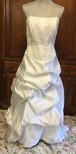 Wedding Dress White Strapless Davids Bridal Size 12