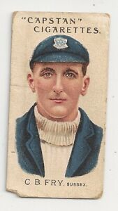 1907 Capstan cigarettes C.B.Fry Sussex Aust and English Cricketers  No 32 avge