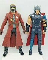 2 Marvel Legends Avengers Electronic Thor Ragnarok & Star Lord Talking Figure