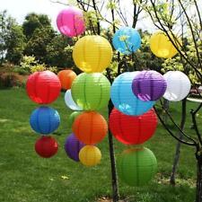 10/15/20/25cm Round Chinese Paper Lantern DIY Hanging Ball Lamp Wedding Decor