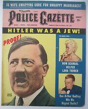 Aug 1959 POLICE GAZETTE with Ted Williams, Lana Turner, Hitler, Wrestling etc