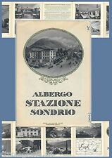 64040 - DEPLIANT TURISTICO d'Epoca - ANNI '30/'50 - ALBERGO STAZIONE Sondrio