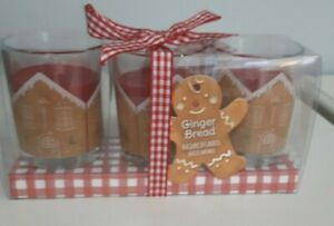 Gingerbread Scent Candle trio, boxed scented candle gift, christmas gift