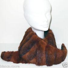 Collo Pelliccia VISONE Modello Grande marrone Chiaro stola donna art. F290