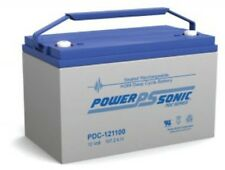 BATTERY POWER-SONIC PDC-121100 12V 110  AH  DEEP CYCLE  FACTORY  ORDER 10 EACH