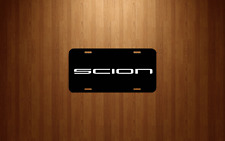 Scion BLACK License Plate with white logo UNIVERSAL fits all cars/trucks SCION