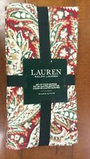 NWT Ralph Lauren Set of 4 Piccard Paisley Red Cotton Dinner Napkins Christmas