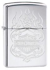 Original ZIPPO Feuerzeug Harley Davidson Logo Flames 60003932 Neu & OVP
