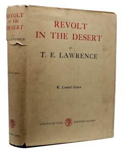 1927 T. E. LAWRENCE Arabia REVOLT IN THE DESERT Dustwrapper 1ST ENGLISH EDITION