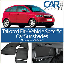 AUDI A2 5DR 99-05 UV CAR SHADES WINDOW SUN BLINDS PRIVACY GLASS TINT BLACK