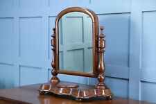 Antique Late Victorian Turned Mahogany Dressing Table Toilet Swing Mirror C1880