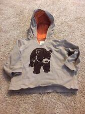Carters Brown Orange Bear Hooded Top Size 9 Months