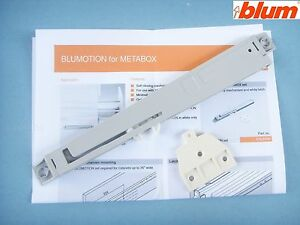 Blum Retrofit Blumotion soft closing for Metabox drawers. (use one per drawer)