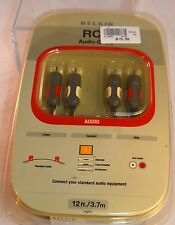 Belkin RCA Audio Cable - HDTV Audio Receiver DVD/DVR Cable/Satellite 12 ft