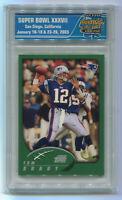 RARE 2002 Topps TOM BRADY #248 Super Bowl 37 Card Show PSA - Rookie RC 1/1 2003