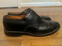 Allen Edmonds Mens Byron Cap Toe Oxford Dress Shoes Black Size 7 D Lace Up