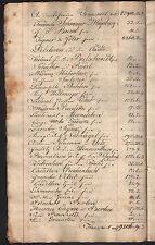 INVENTAR eines Warenlagers 1808 - 1811 HANDSCHRIFT Original!