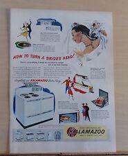 1948 magazine ad for Kalamazoo Electric Range - How to Turn a Brides Head