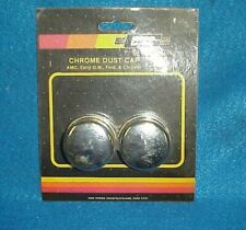 NOS MR GASKET CHROME FRONT DUST CAPS CHEVY FORD DODGE BUICK PONTIAC 2485 CAMARO