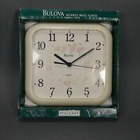 Pfaltzgraff Tea Rose Wall Clock - Bulova- With Box - Tested