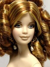 Nude Collector Edition Barbie Doll Mackie Model Muse Red Ringlets Fair Skin