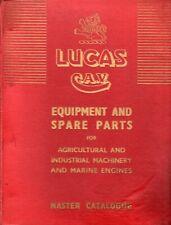 LUCAS CAV 922 Master Catalogue Agricultural & Industrial & Marine