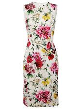 Dolce&Gabbana Rose Print Stretch Silk Dress Size 8 US / 42 It