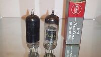 PAIR (2) Wards Super Airline 12BY7 Vacuum Tube Black Plate Top O Getter STRONG